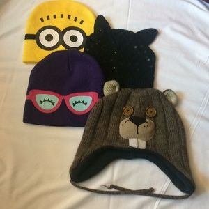 Girls' winter hats - collection of 4